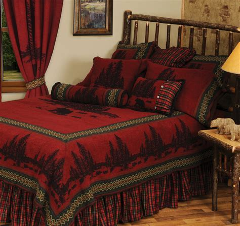 Wooded River Bear 5 Bedspread   Twin