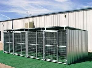 heavy duty 4 run dog kennel 539x1039x639 3 covered sides roof With covered dog kennels runs