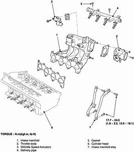 2004 Kia Rio  Removing  Valves  The Intake Manifold