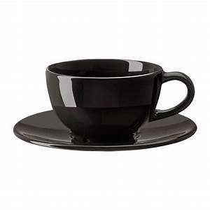 VARDAGEN Coffee Cup And Saucer Dark Grey 14 Cl IKEA