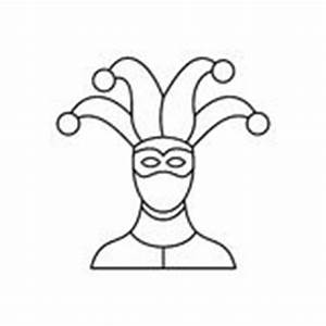 Jester Hat Icon, Outline Style Stock Vector - Image: 83178993