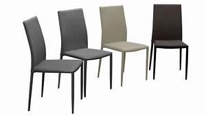 Chaise Tissu Design : lot de 6 chaises en tissu ou similicuir design ludvika mobilier moss ~ Maxctalentgroup.com Avis de Voitures