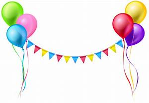 Streamer and Balloons PNG Clip Art Image Gallery