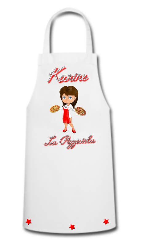 tablier de cuisine femme tablier de cuisine femme pizza pizzaiola personnalisé avec prénom divers tablier de cuisine