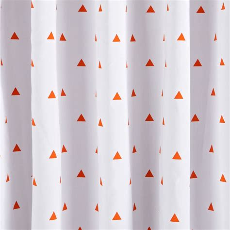 little prints blue triangle blackout curtains the land