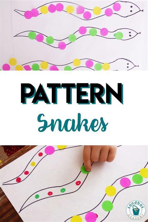 snake patterns activity  preschoolers sandbox academy