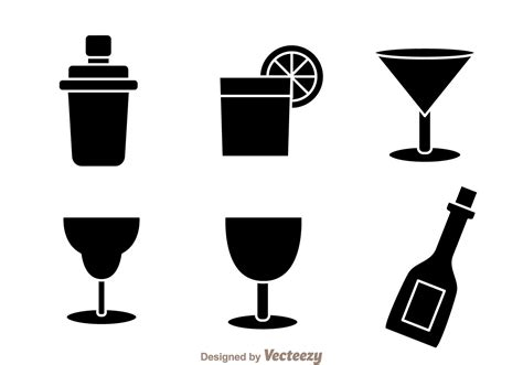 mixed drink clipart black and black cocktail icons download free vector art stock