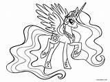 Pony Coloring Princess Celestia Printable Cool2bkids sketch template
