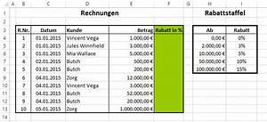 Ablöse Gastronomie Berechnen : sverweis funktion f r rabatte in excel verwenden beispiel ~ Themetempest.com Abrechnung