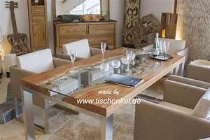 Esstisch Holz Edelstahl : esstisch holz mit glasplatte ~ Whattoseeinmadrid.com Haus und Dekorationen