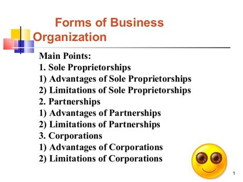 legal form of organization forms of business organisation