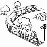 Train Coloring Pages Steam Toy Diesel Railroad Engine Track Outline Drawing Caboose Trains Getcolorings Getdrawings Printable Netart Colorluna Luna sketch template