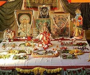 Hindu puja table Altars - mostly Hindu 2 Pinterest