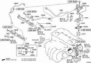 Toyota Rav4 Pipe  Fuel Delivery  System  Injection