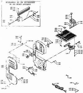 Miter Gauge And Rip Fence Assembly Diagram  U0026 Parts List For Model 28185 Delta