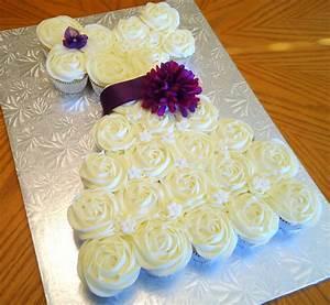 Bridal shower dress cupcake cake cakecentralcom for Wedding shower cupcakes