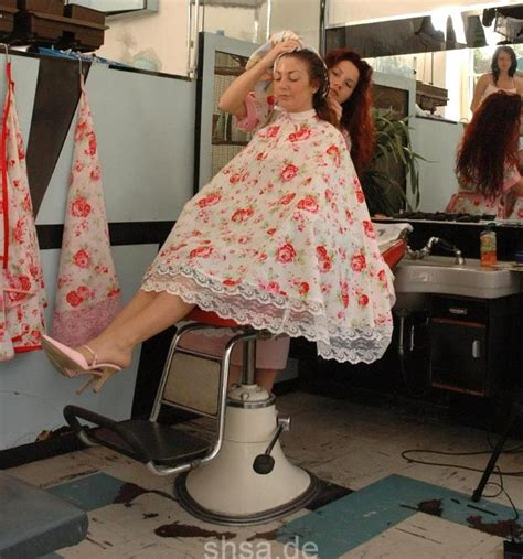 lovely floral cape salon capes hair cuts hairdresser floral hair