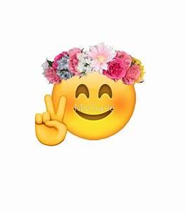 """Flower Crown Emoji"" Stickers by MizSarie Redbubble"