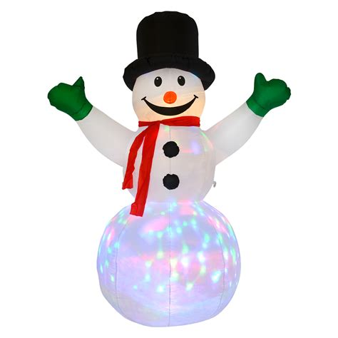 xl 6ft snowman outdoor decoration light up led