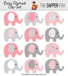 Giraffe Print Baby Shower Decorations by Pink And Grey Elephant Clip Art Instant Download Baby