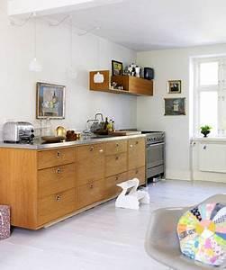 deco cuisine scandinave meubles chene peinture et parquet With deco cuisine pour meuble chene