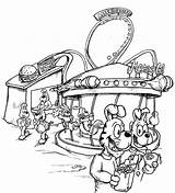 Carnival Coloring Pages Fun Fair Rides Drawing Sheets Scene Nice Getdrawings Coloringtop sketch template