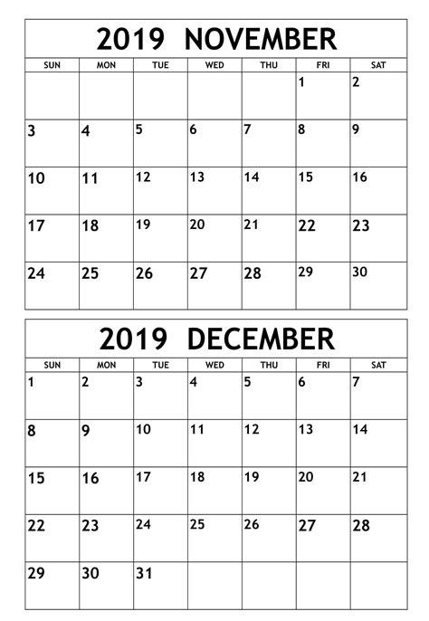 november  december  calendar template