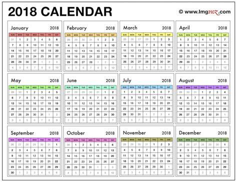 2018 calendar template printable 2018 calendar uk printable calendar templates
