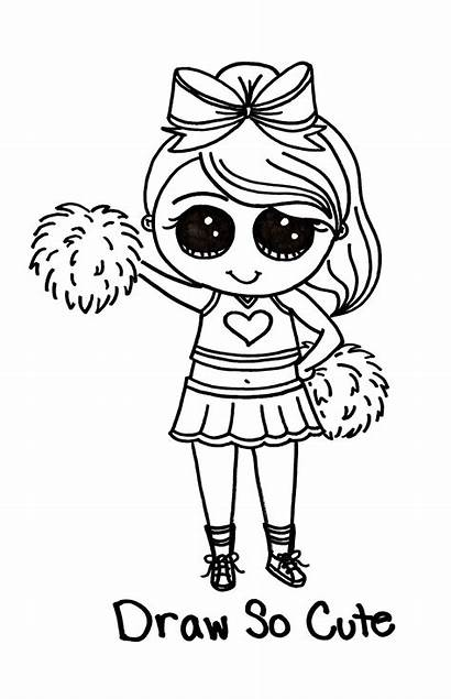 Cheerleader Coloring Pages Background Wallpapers Backgrounds Wallpaperaccess