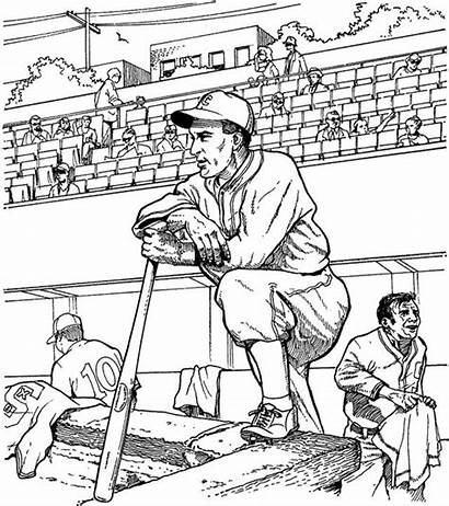 Coloring Pages Baseball Adult Sports Adults Books