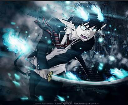 Rin Exorcist Okumura Ao Anime Zerochan Demon