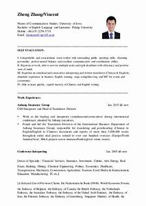 Canada Resume Example Vincent 39 S English Resume 2015