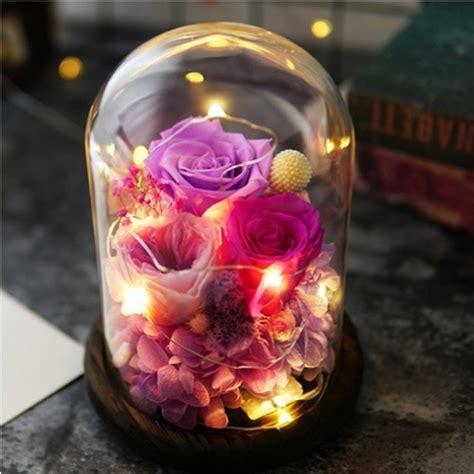 glass roses led night light