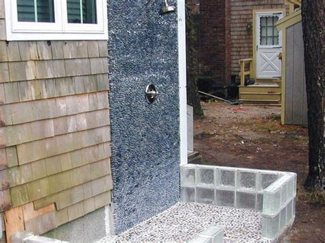 Building An Outdoor Bathroom How To Build An Outdoor Shower How Tos Diy