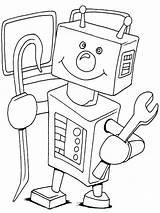 Coloring Robots Robot Sonic Printable Boys Template sketch template