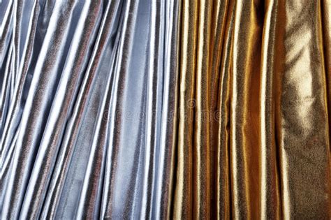 Luxurious Silver And Gold Fabric Stock Image   Image: 13880185