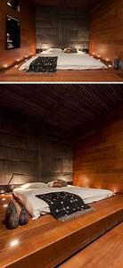 Lit futon et lit plateforme pour chambre adulte contemporaine for Décoration chambre adulte avec matelas futon paris