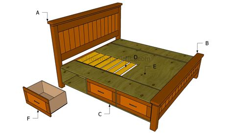 build  bed frame  drawers howtospecialist bed