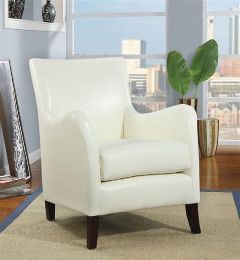 fauteuil d appoint similicuir ivoire