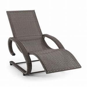 Chaise Longue Aluminium : blumfeldt daybreak chaise longue bascule transat en ~ Teatrodelosmanantiales.com Idées de Décoration