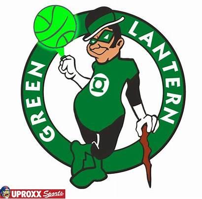 Celtics Boston Clipart Nba Logos Redesign Superheroes