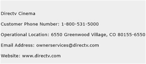 phone number for directv customer service directv cinema customer service phone number toll free