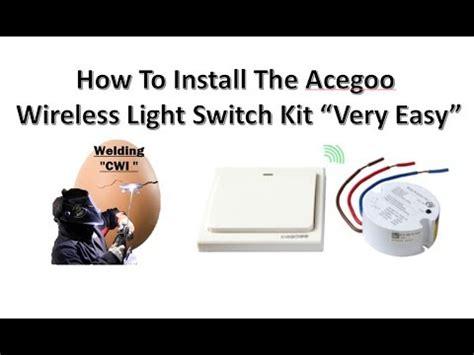 How Install The Acegoo Wireless Lights Switch Kit Very
