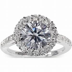 925 sterling silver stunning round cut simulated diamond With 925 sterling silver wedding rings