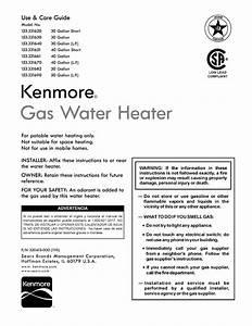 Kenmore 153331620 User Manual Water Heater Manuals And
