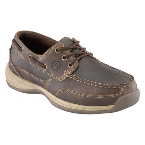 rockport boat shoes womens rockport works s steel toe boat shoes rk676