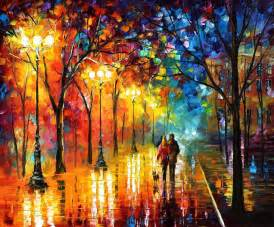 night fantasy palette knife oil painting on canvas by