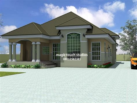 one craftsman style homes 3 bedroom flat bungalow plan in nigeria