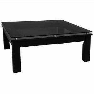 plateau tcs contemporary square coffee table in black on With black square coffee table with glass top