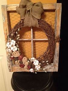 Took, An, Old, Window, Frame, Bought, For, 5, And, Added, Chicken, Wire, And, Wreath, I, Embellished